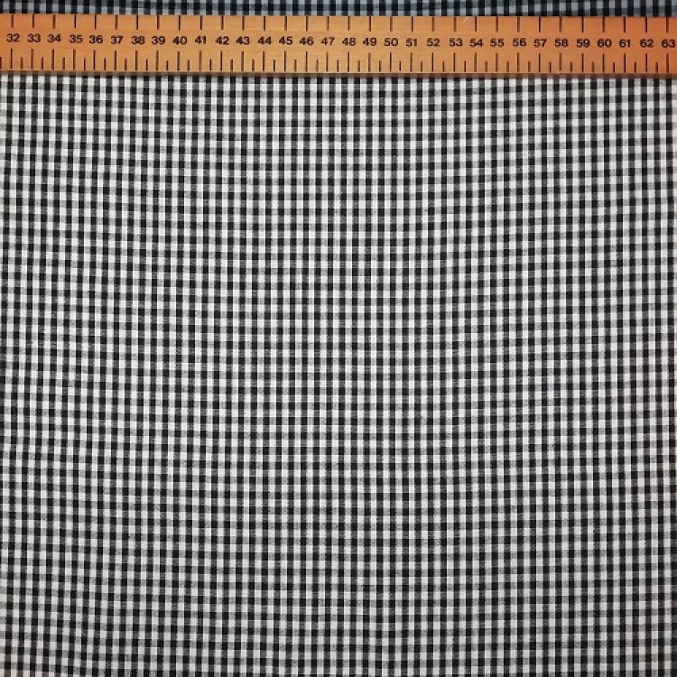 Gingham Black Small