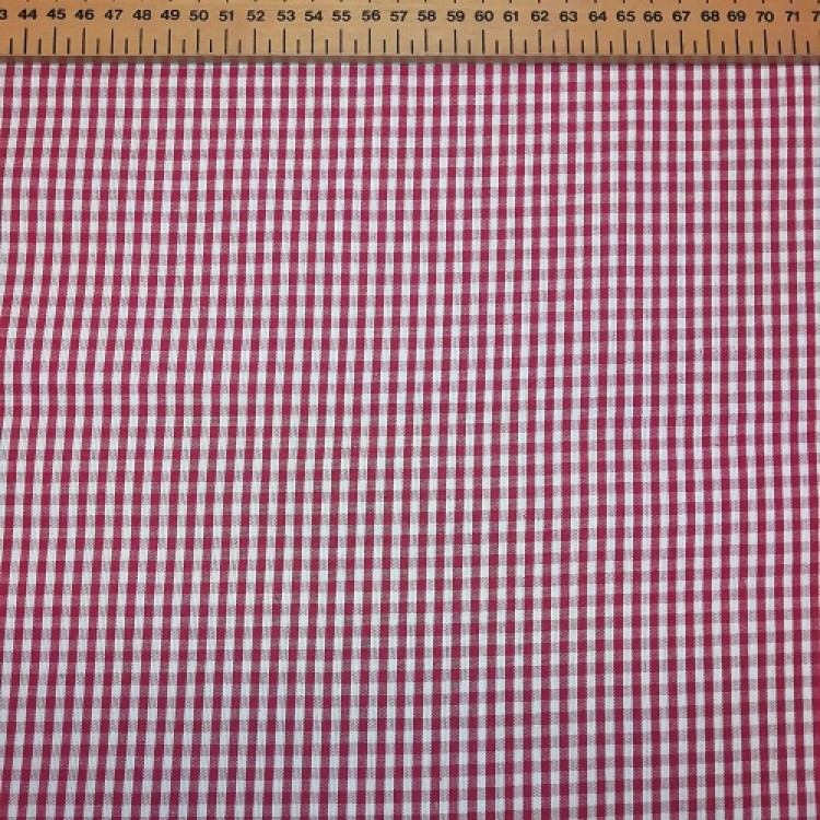 Gingham Red Small