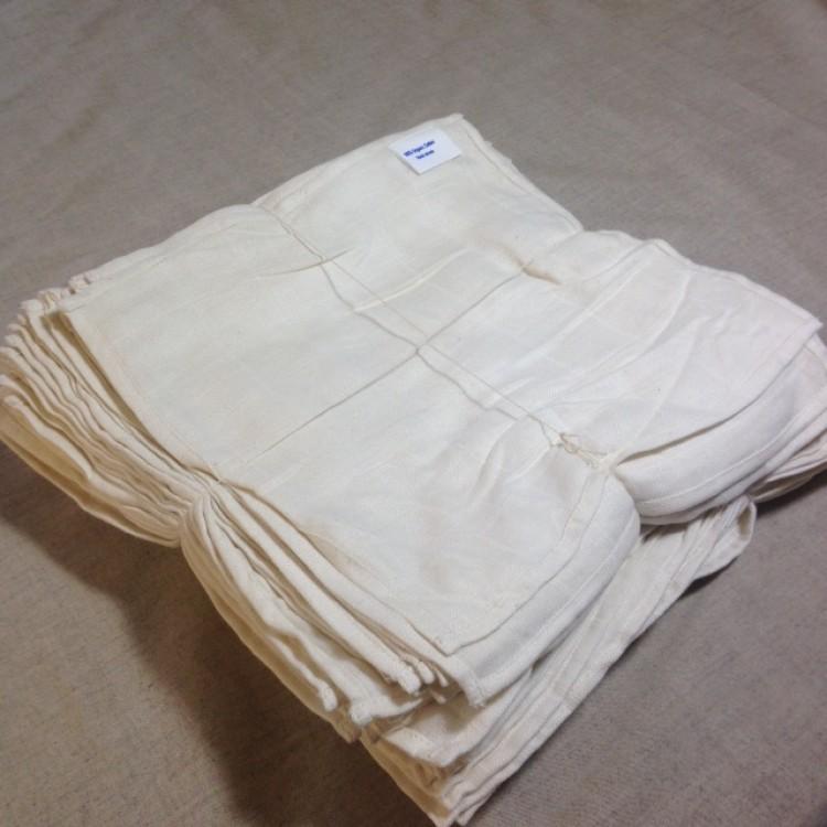 Bamboo and Organic Cotton 100 Muslin Cloths 30x30cm -