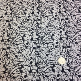 Crossweave X Scratch Funky Prints - Grey Marl Spirals