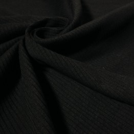 Jersey Fine Ribbed Black