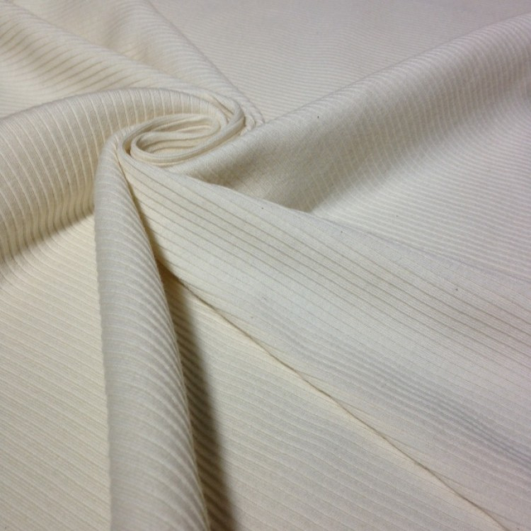 Jersey Fine Ribbed OffWhite