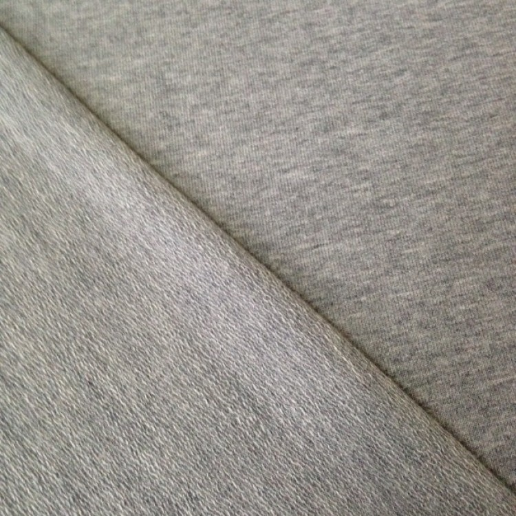 Jersey Loop Back Grey Marl French Terry