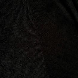 Jersey Pointelle Holetex Black