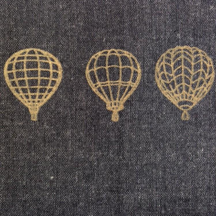 Border Gold Balloons on Black