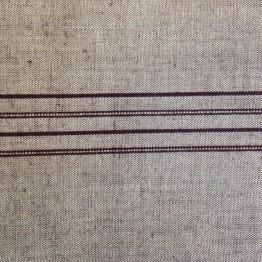 Border Woven Stripe on Linen Look