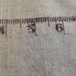Border Tape Measure on Linen Look
