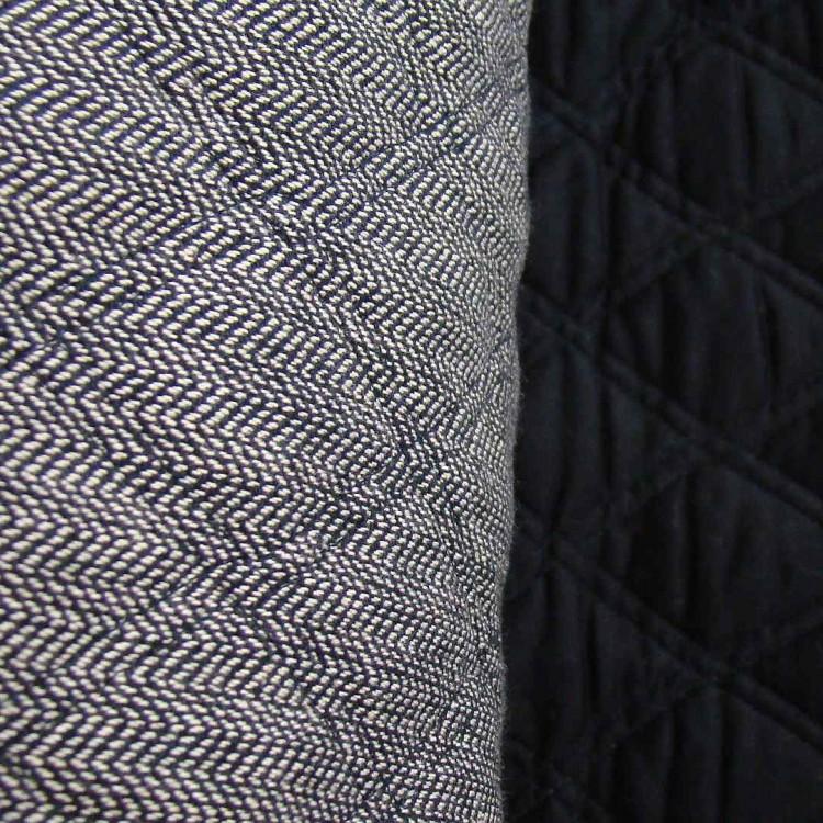 Quilting Black Herringbone / Black Sateen