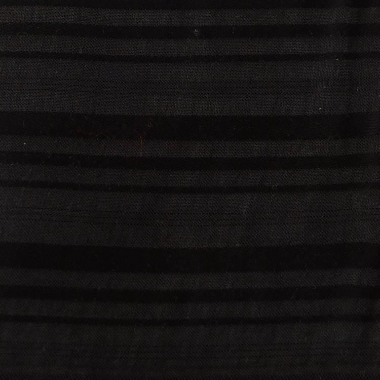 Bamboo Silk - Wide Stripe Black