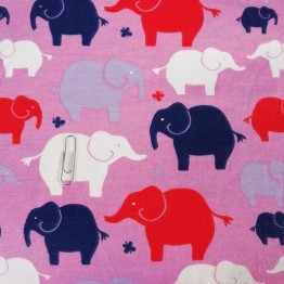 Jersey Interlock Elephants