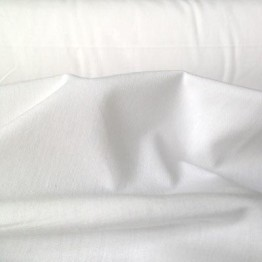 Sateen Sheeting Percale White
