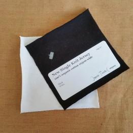 Single Jersey Black & White - Fabric Samples