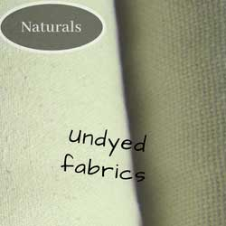 Undyed organic cotton such as calico, canvas, popln.
