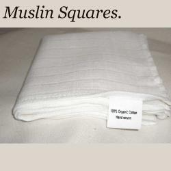 muslin squares, cloths for cleansing, organic cotton muslins.