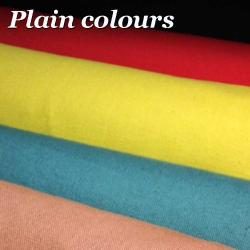 plain coloured canvas and organic cotton plain coloured fabric